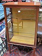 An Edwardian mahogany glazed display cabinet,