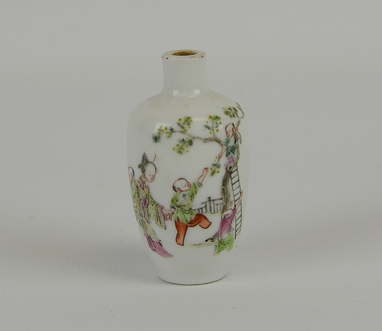 Xianfeng Mark & Period Porcelain Snuff Bottle