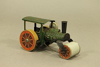 A German PW Tin Plate Steam Roller clockwork in