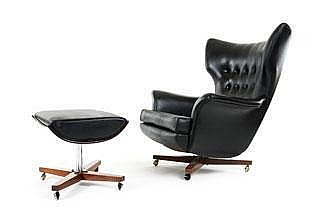 A Poul Conti Model 6250 Armchair and Ottoman by