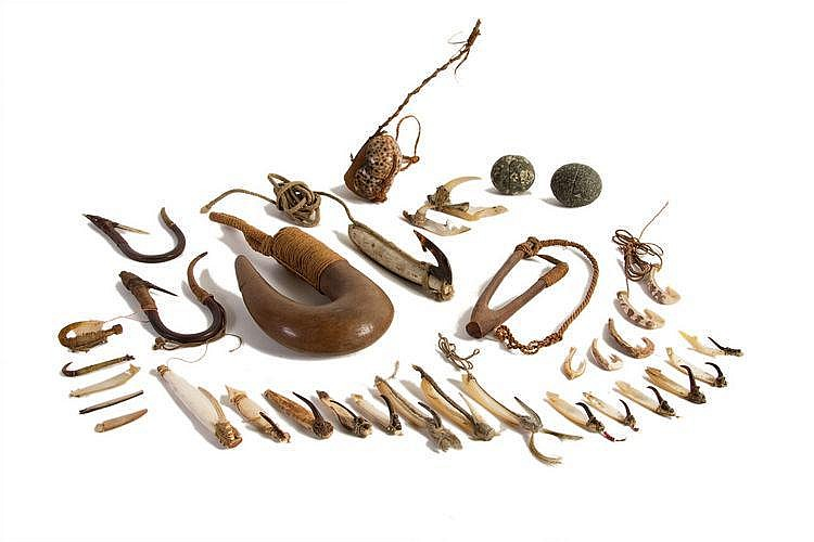 A FINE COLLECTION OF OCEANIC FISH HOOKS