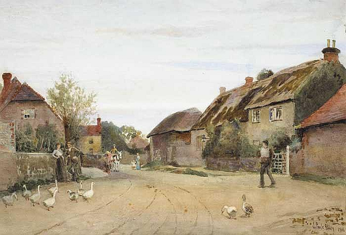 Joseph Poole Addey (1852-1922) ENGLISH VILLAGE