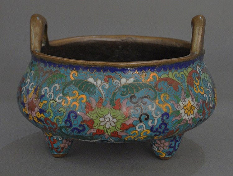 A Chinese Cloisonne Censer, Mark