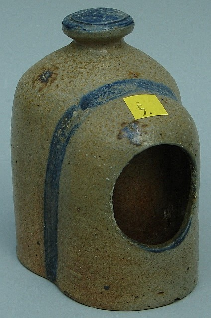 Stoneware Cobalt Decorated Chicken Waterer