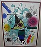 Joan Miro (Spanish 1893-1983) LE CHANTEUR, pl. XI Color lithograph