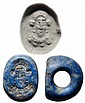 Lapis Sasanian seal w. king or hero, Ex Banks