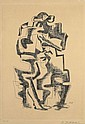 Ossip ZADKINE (1890 - 1967) L'HOMME CHAT, 1962 et DERAIN AUX YEUX GRIS COMME L'AUBE ..., 1967