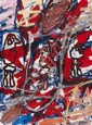 Jean DUBUFFET (1901-1985) SITE AVEC 3 PERSONNAGES, 18 janvier 1982 Acrylique sur papier maroufl sur toile