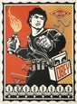 Shepard FAIREY (OBEY GIANT) (n en 1970) MOLOTOV MAN, 2006 Srigraphie en couleurs