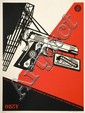 Shepard FAIREY (OBEY GIANT) (n en 1970) 2ND AMENDMENT SOLUTIONS, 2011 Srigraphie en couleurs