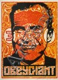 Shepard FAIREY (OBEY GIANT) (n en 1970) NIXON STAMP, 2001 Srigraphie en couleurs