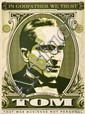 Shepard FAIREY (OBEY GIANT) (n en 1970) GODFATHER TOM, 2006 Srigraphie en couleurs
