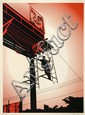 Shepard FAIREY (OBEY GIANT) (n en 1970) BAYSHORE BILLBOARD, 2011 Srigraphie en couleurs