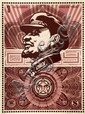 Shepard FAIREY (OBEY GIANT) (n en 1970) LENIN MONEY, 2003 Srigraphie en couleurs