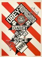Shepard FAIREY (OBEY GIANT) (n en 1970) CONSTRUCTIVIST BANNER (CREAM EDITION), 2010 Srigraphie en couleurs