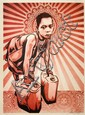 Shepard FAIREY (OBEY GIANT) (n en 1970) YELLOW CANS, 2009 Srigraphie en couleurs