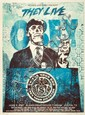 Shepard FAIREY (OBEY GIANT) (n en 1970) THEY LIVE (BLUE EDITION), 2011 Srigraphie en couleurs