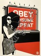 Shepard FAIREY (OBEY GIANT) (n en 1970) OBEY BILLBOARD CONSUME, 2008 Srigraphie en couleurs