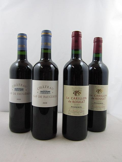 8 bouteilles 4 bts : CHTEAU CAP DE FAUGERES 2009 Ctes de Castillon