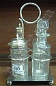 A four bottle plated cruet