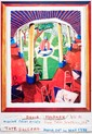 DAVID HOCKNEY - Color offset lithograph poster, David Hockney, &#x0024;500