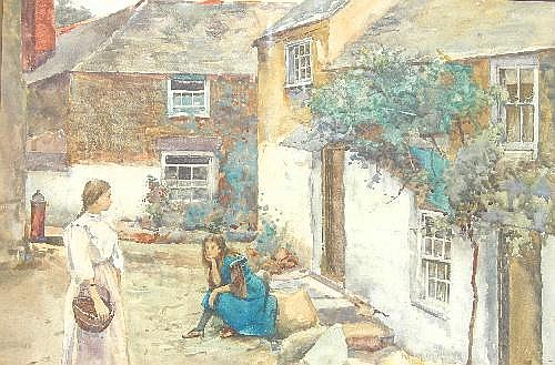 Henry Meynell Rheam (1859-1920) Girls of Newlyn