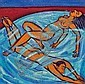 Eileen Cooper (1953-) Swimmers I, 2006 Oil on