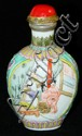 Oriental snuff bottle with erotic scenes