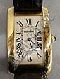 Cartier 18 kt. Tank Americaine wrist watch
