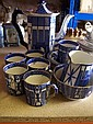 A Burleighware Pagoda pattern Coffee Set decorated
