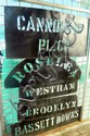 Five assorted property stencils including Cannonbar, Roselea, and Brooklyn