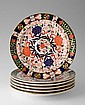 6 ROYAL CROWN DERBY 524 PLATES IMARI COLORS