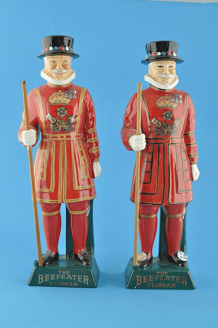 A pair of Carltonware Beefeater Yeomen figures,