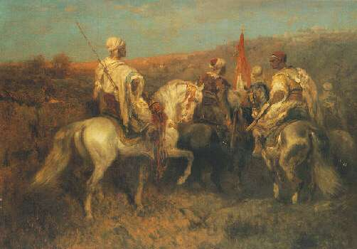 ADOLF SCHREYER (GERMAN, 1828-1899) THE RETURN OF THE PASHA AND HIS ESCORT