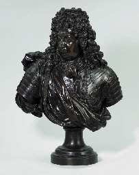 A BRONZE PORTRAIT BUST OF THE GRAND DAUPHIN, SON OF LOUIS XIV
