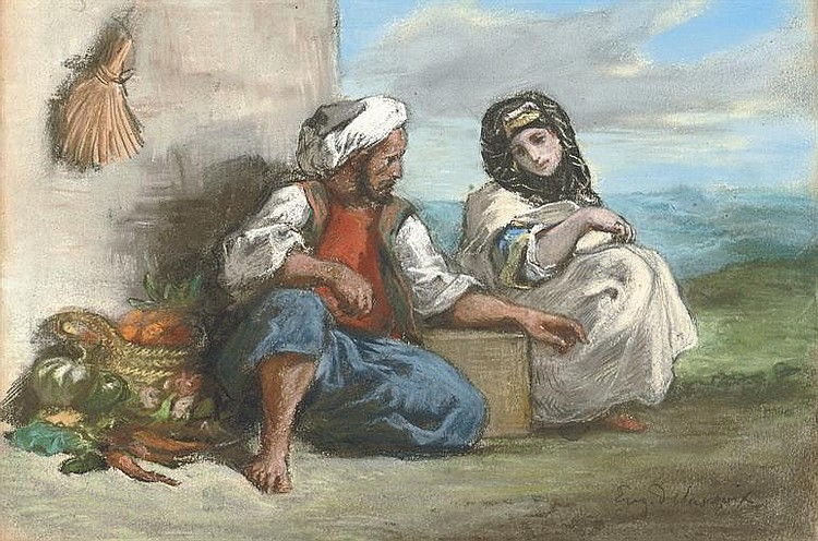 Arab fruit seller