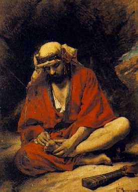 LEON BONNAT (FRENCH, 1834-1922) An Arab plucking a Thorn from his Foot