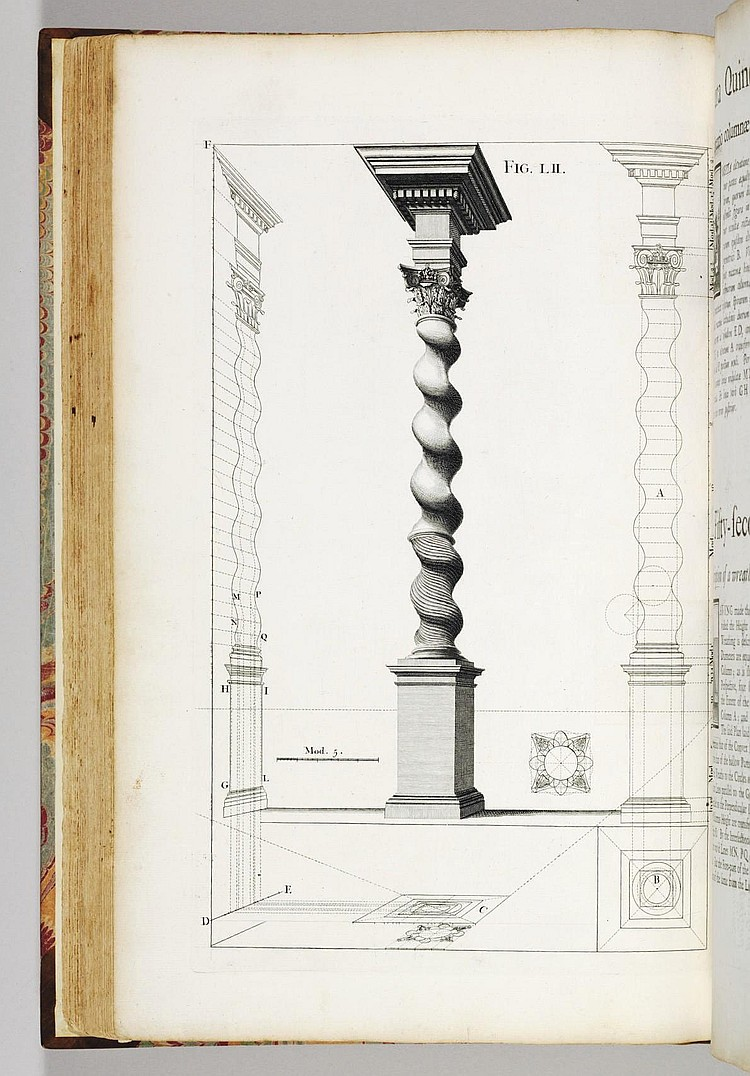 POZZO, Andrea (1642-1709).  Rules and Examples of Perspective Proper for Painters and Architects, etc. In English and Latin . London: Benjamin Motte, 1707.