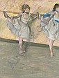Danseuses à la barre , Edgar Degas, Click for value