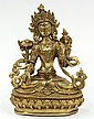Sino-Tibetan Gilt Bronze Tara