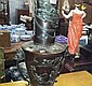 Japanese Patinated Bronze Vase Decorated with