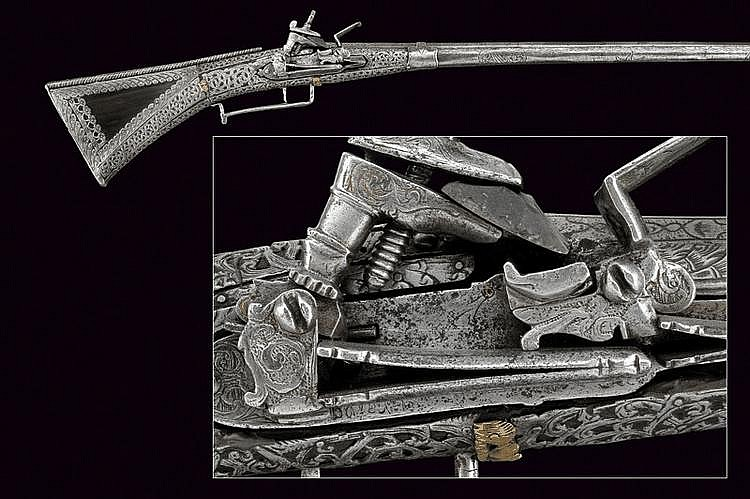 A beautiful flintlock gun by Barbuti
