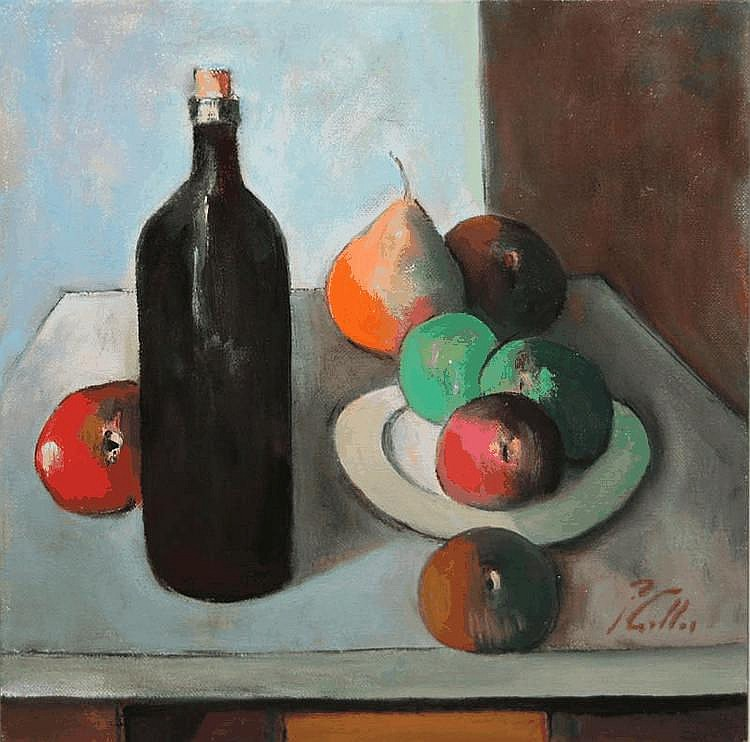 Peter Collis RHA 1929-2012 STILL LIFE WITH FRUIT &