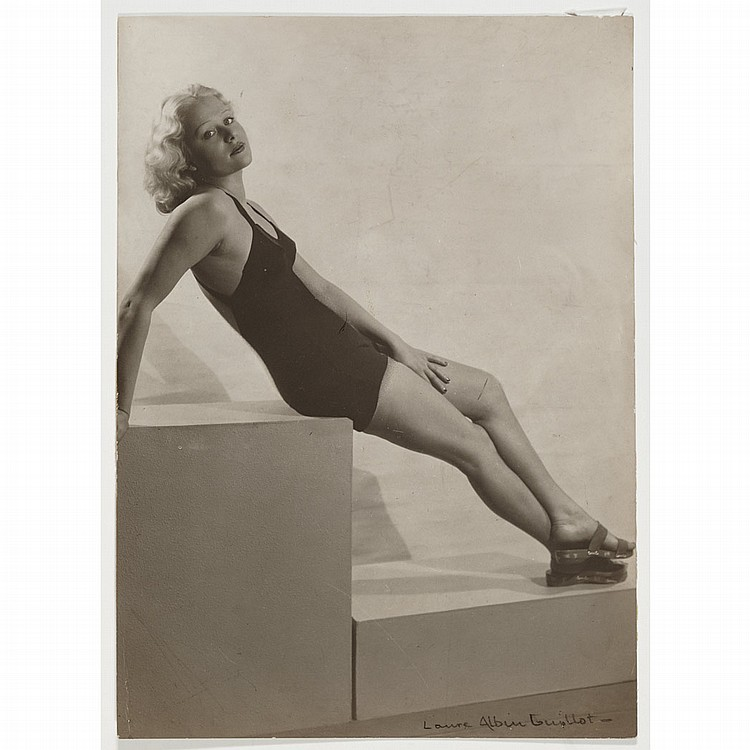 [GLAMOUR] ALBIN-GUILLOT, LAURE Untitled [Portrait of a young woman in a bathing suit, about 1930].