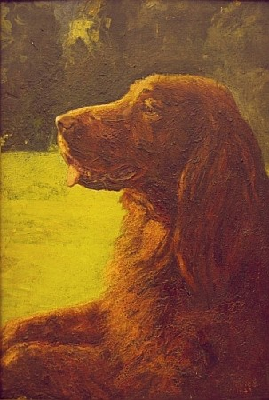 Percy J. Jones British, 20th century Profile of Doddie (Titian Toriah), a Champion Irish Setter, 1943