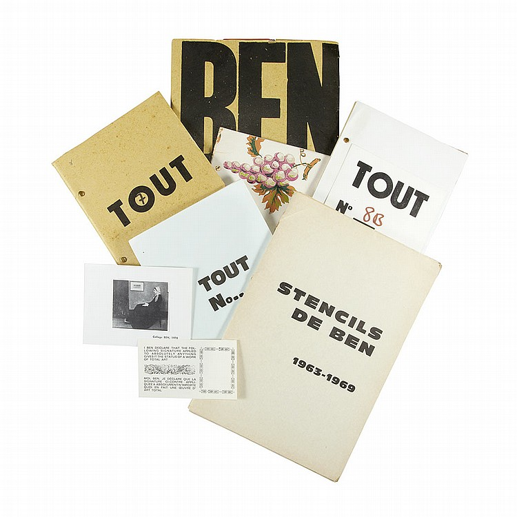 [FLUXUS] VAUTIER, BEN Group of approximately ten ephemeral publications,