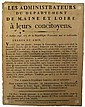 1793 - MAINE ET LOIRE - LA CONSTITUTION de l'AN 3