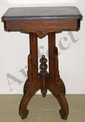 East Lake Walnut Marble Top Stand