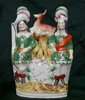 Staffordshire Figures w/Clock