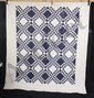 L15P ANTIQUE QUILT c1910-1930 20th CENTURY HAND STITCHED BLUE WHITE 92 x 77